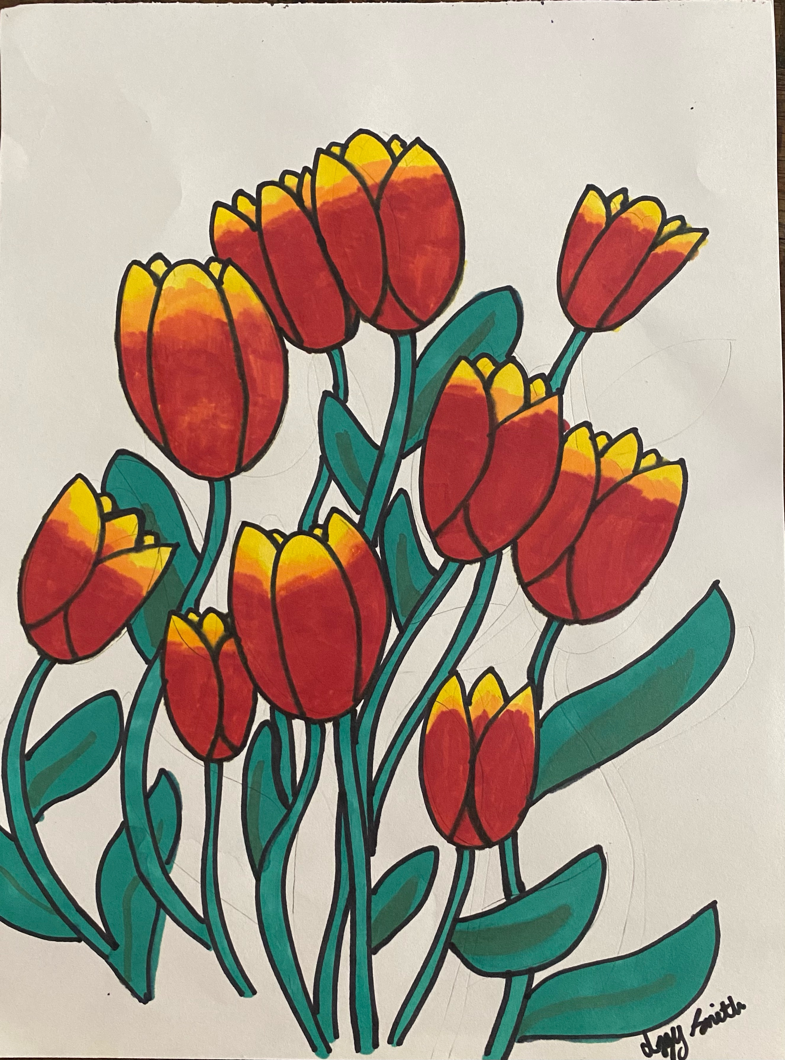 Tulips by Izzy Smith