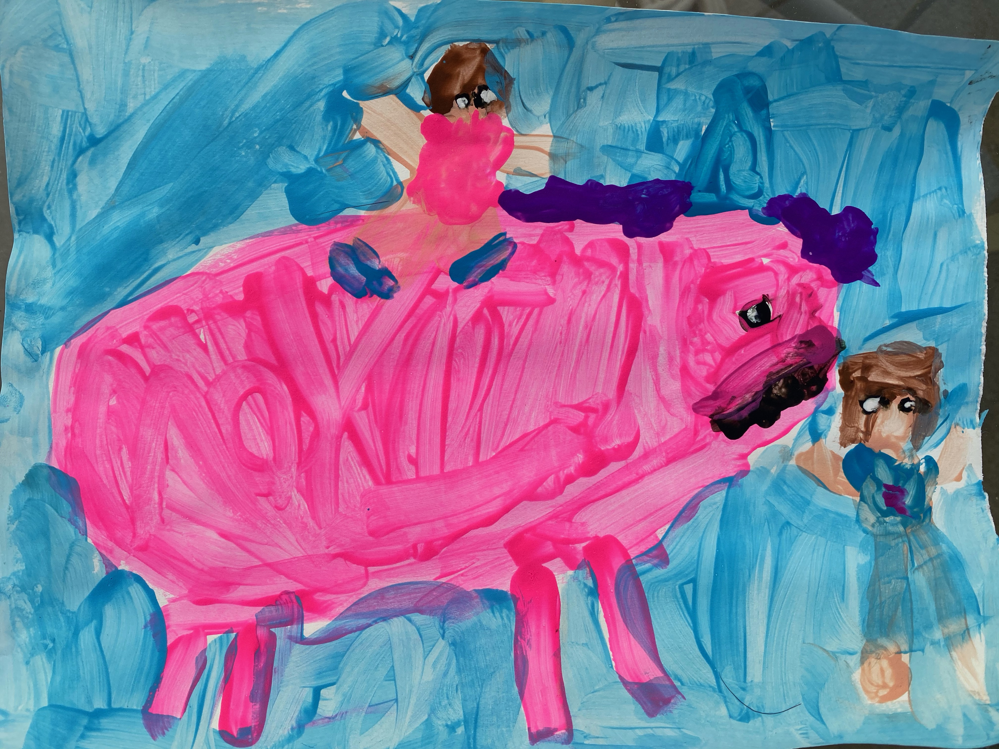 Daddy and I with Unicorn by Mikayla Kost