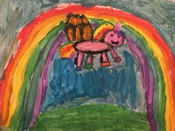 Rainbow Unicorn by Mia Zucco