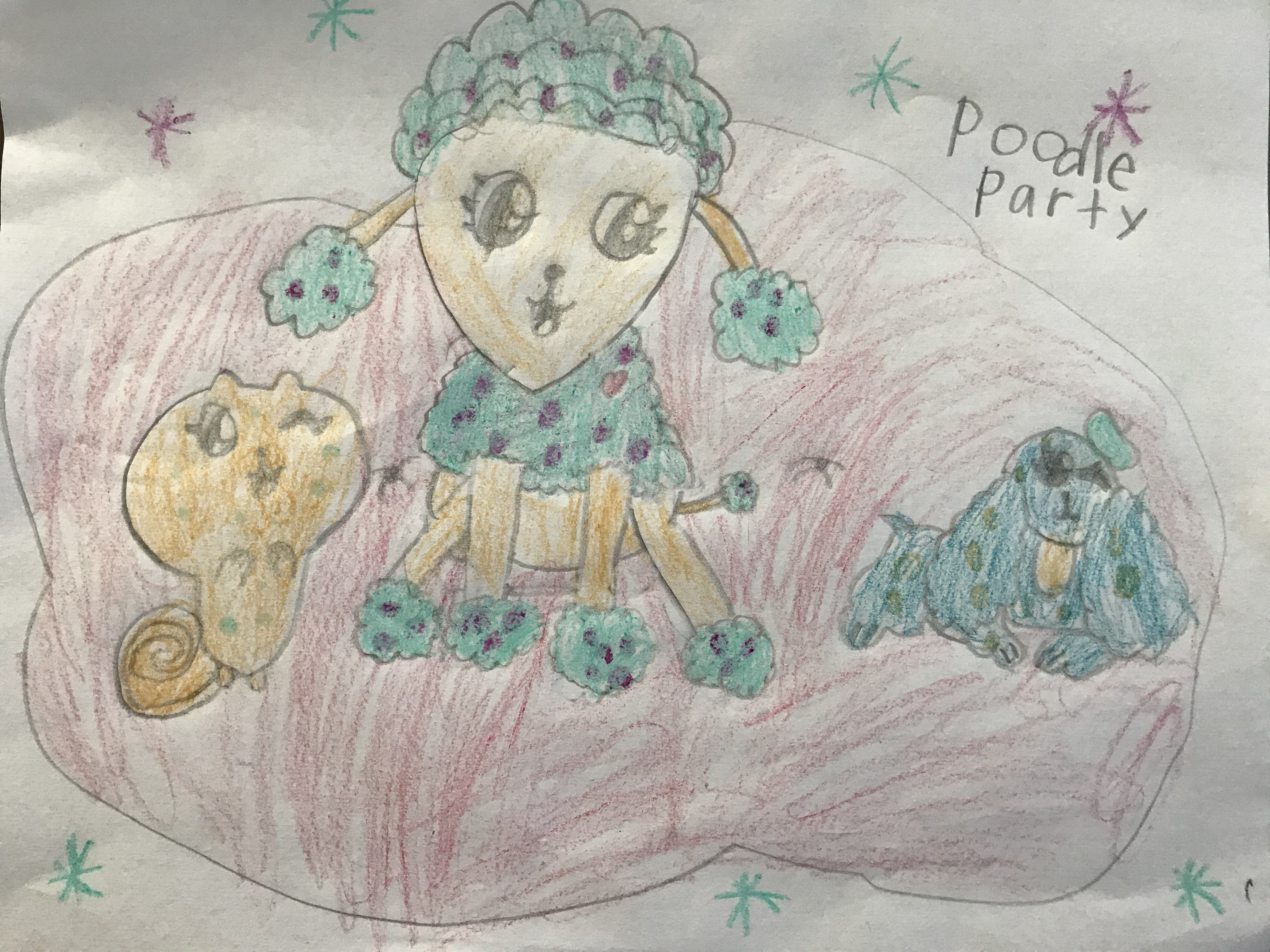 Poodle Party by Hannah Pate