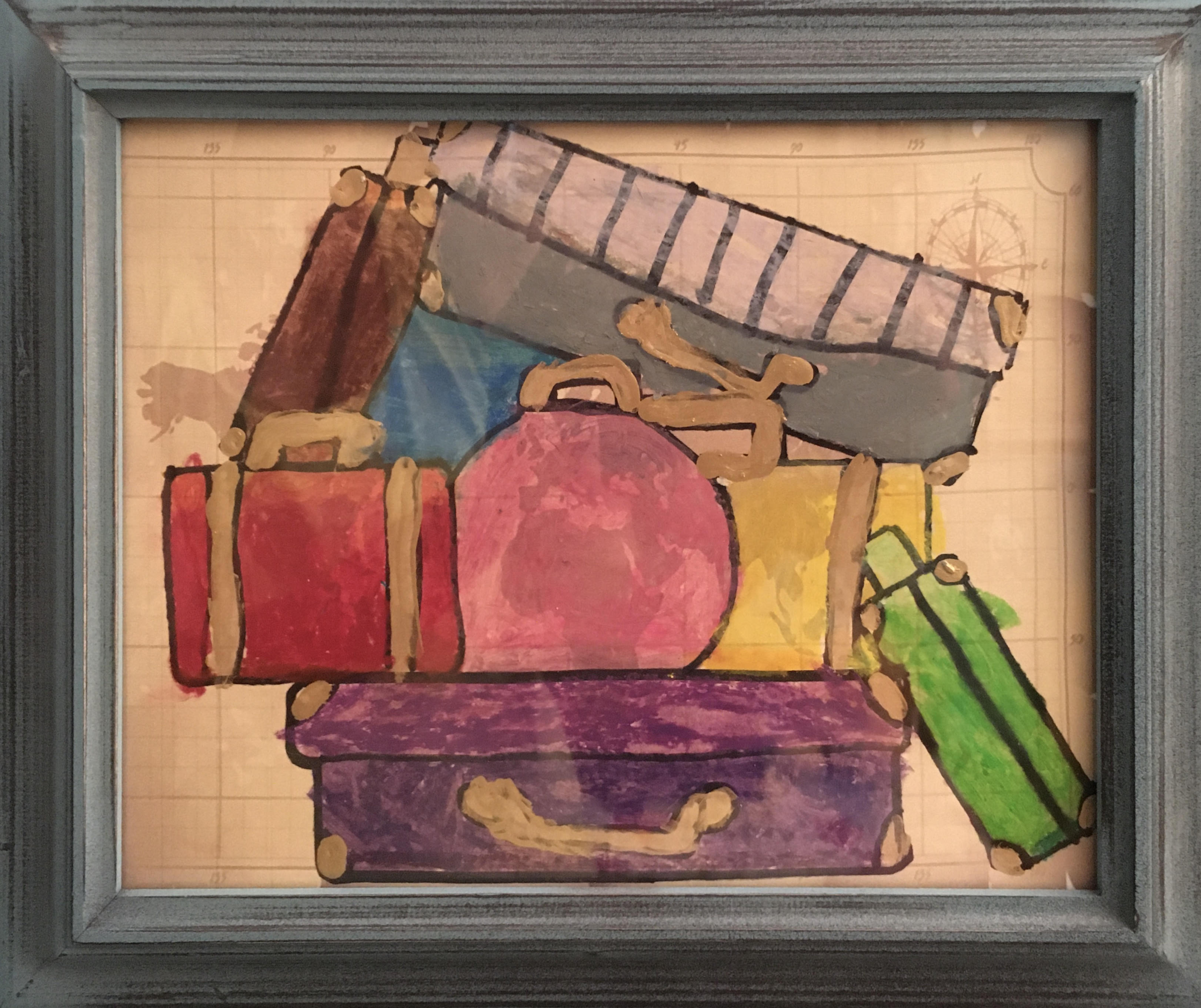 Suitcases by Natalie Montes
