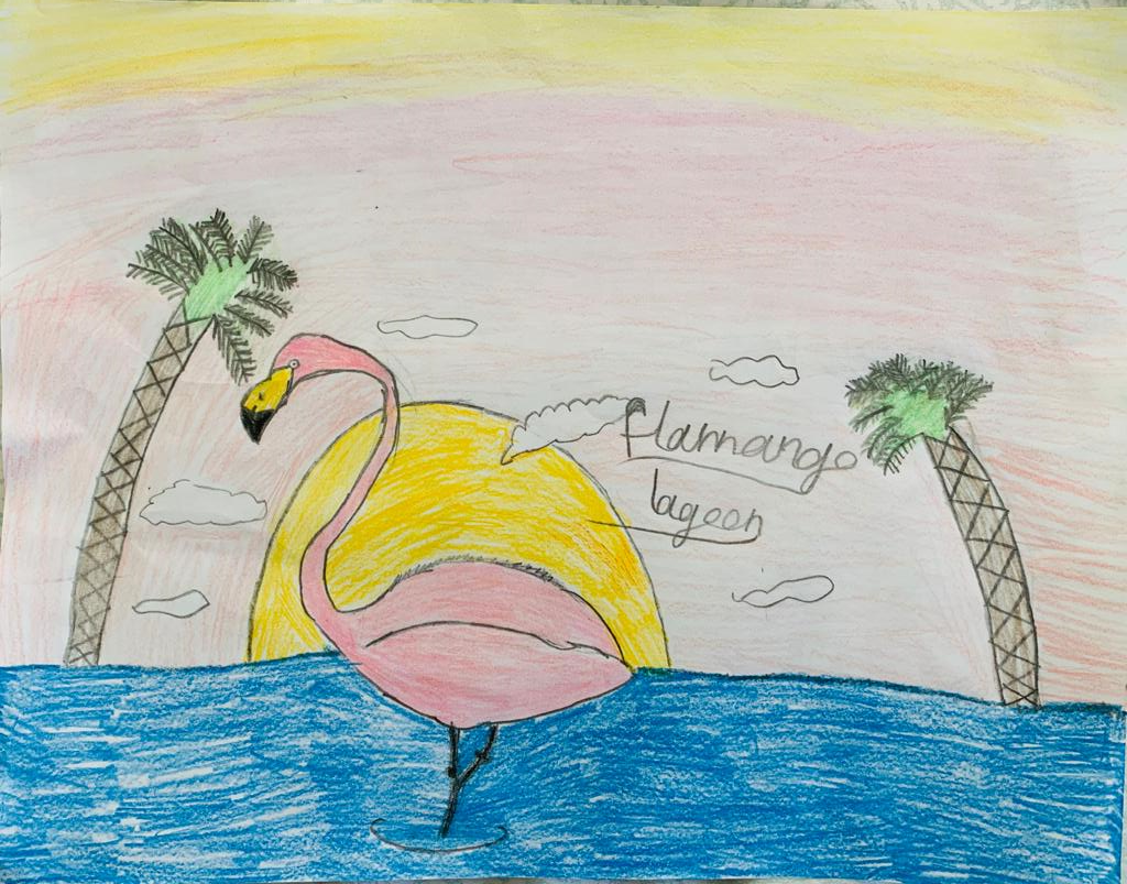 Flamingo Lagoon by Jennifer Bitto