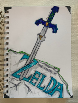 Zelda's Sword In Stone by Jackson Sattler