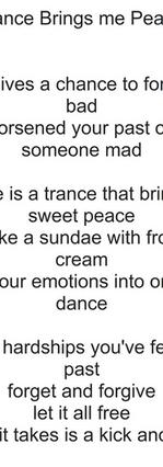 Dance Brings me Peace by Katie Davies