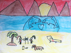 My Day at the Beach by Saira Parackal