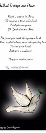 What Brings me Peace by Alexa Erdmann