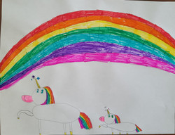 Unicorns Behind a Rainbow by Brianna Graat
