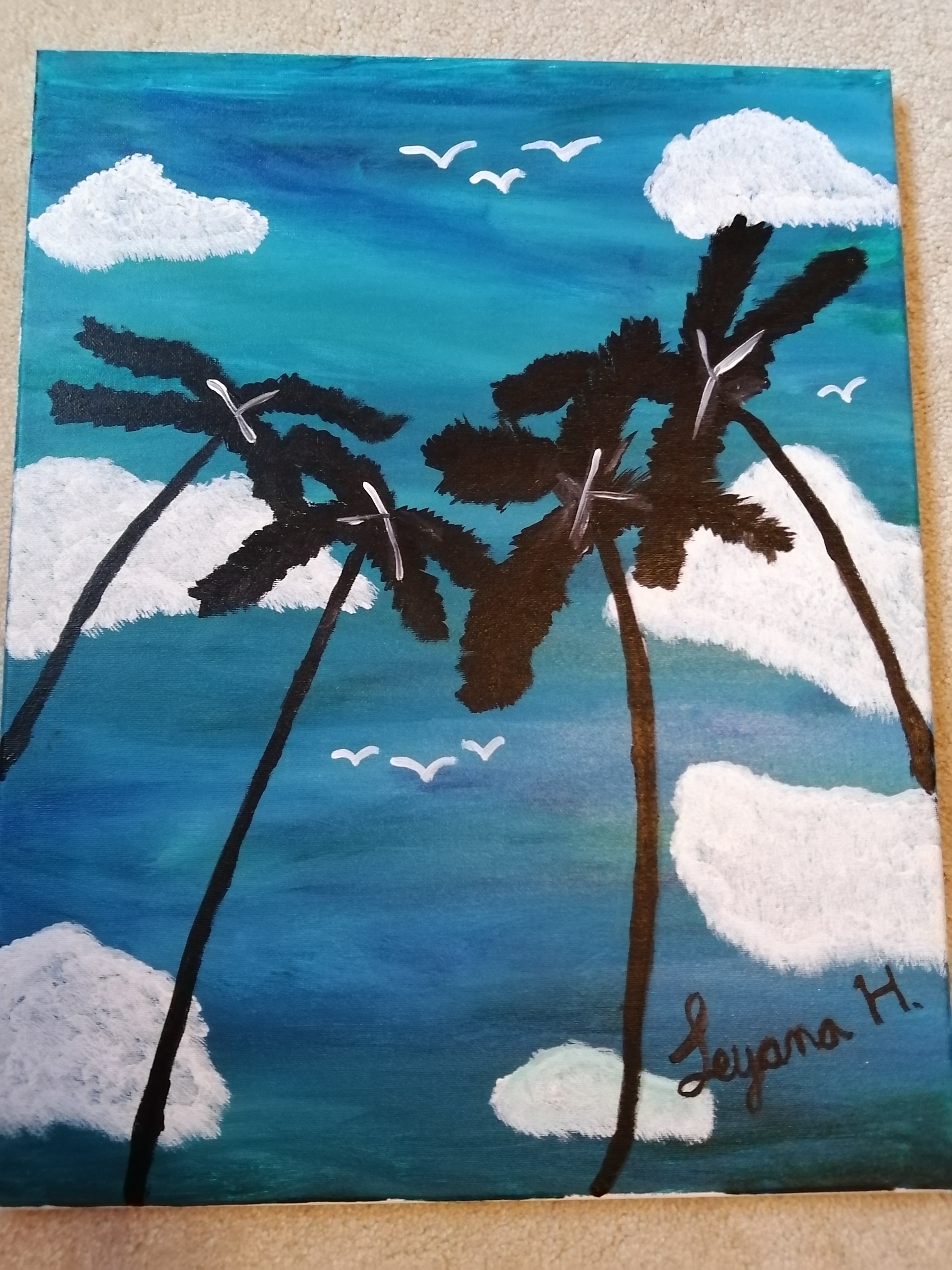 Palm Trees in Hawaii by Leyana Haque