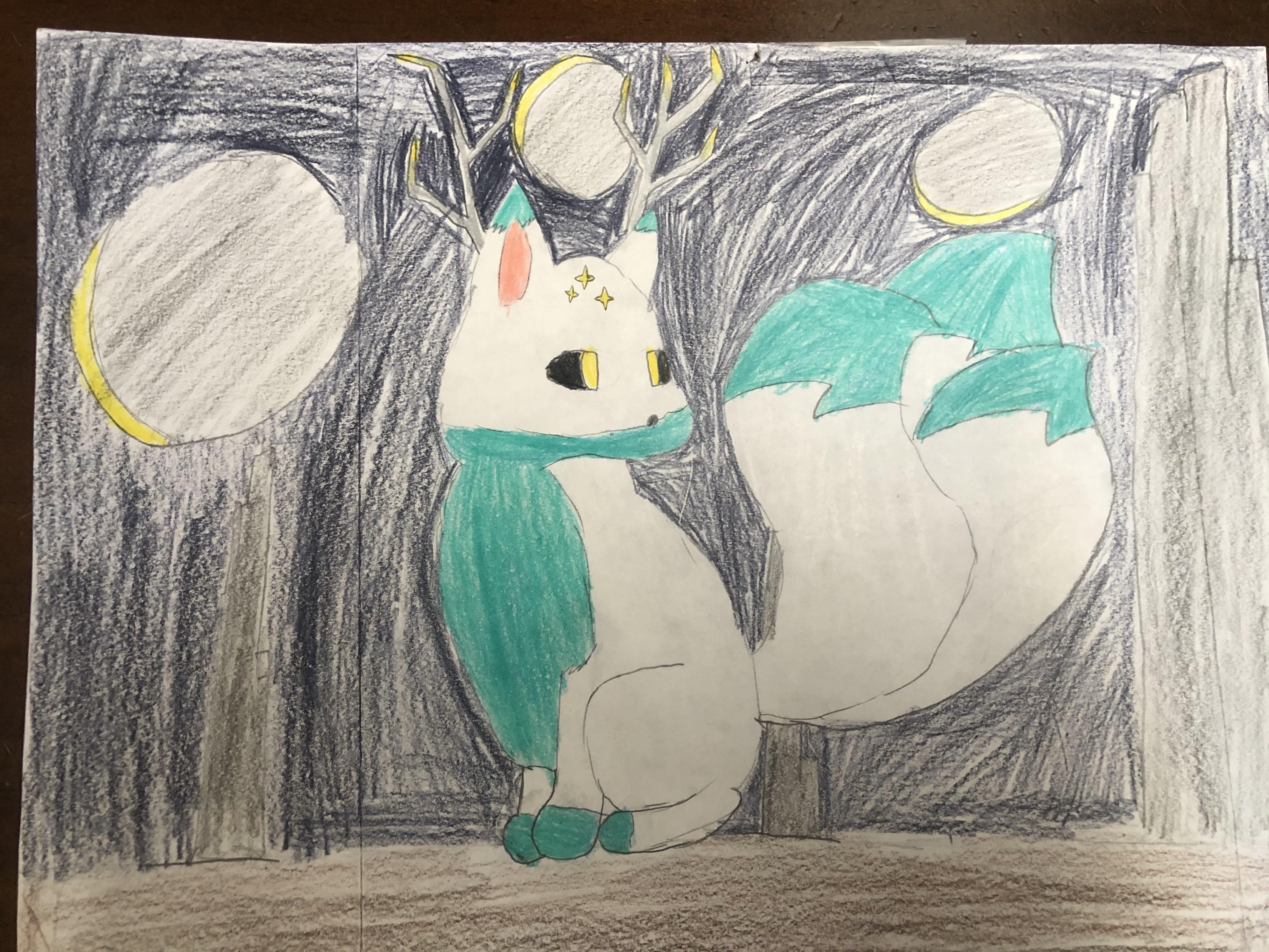 Cosmic Kitsune by Sarah Leal