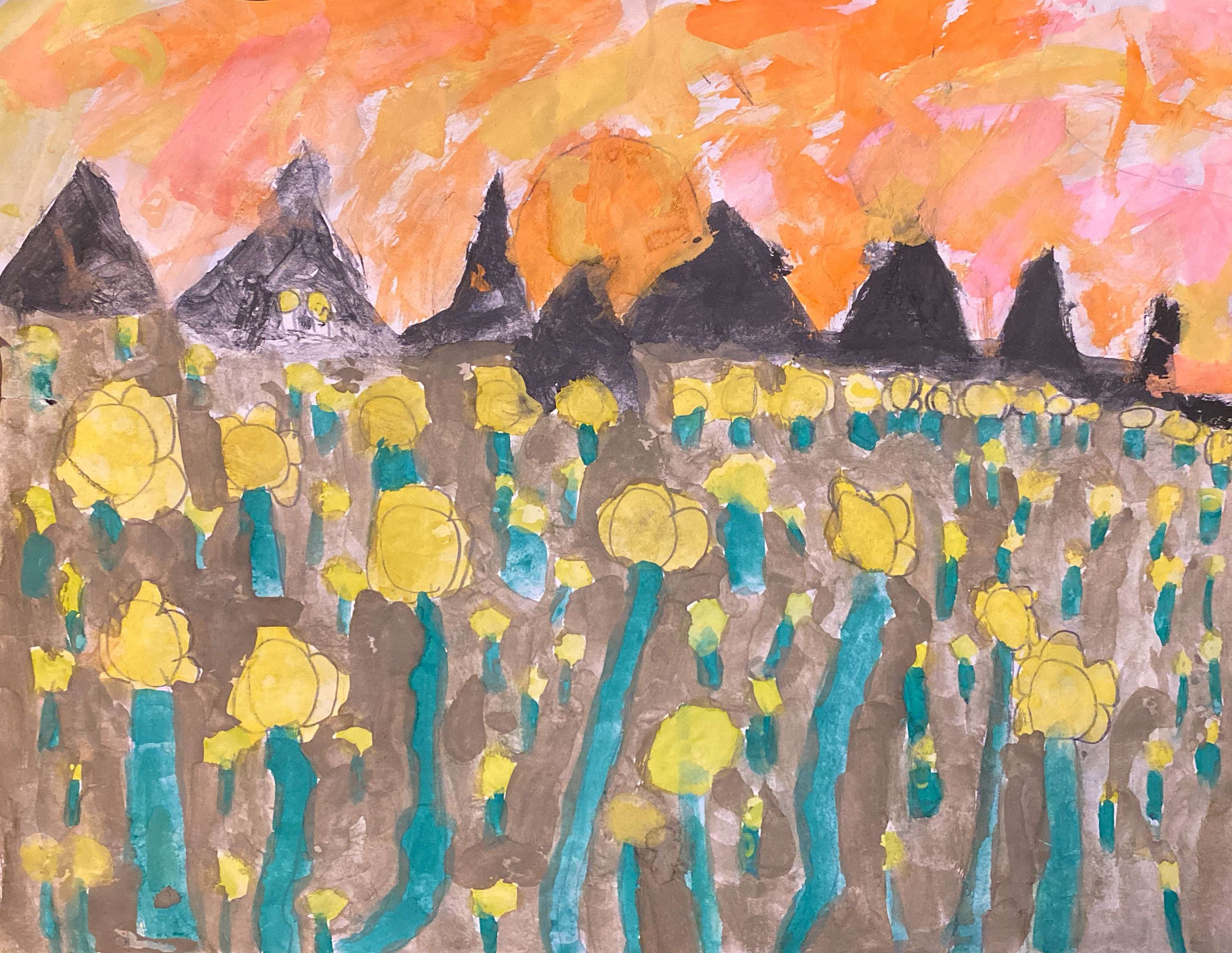 Sunflowers at Sunset by Treyson Filippi