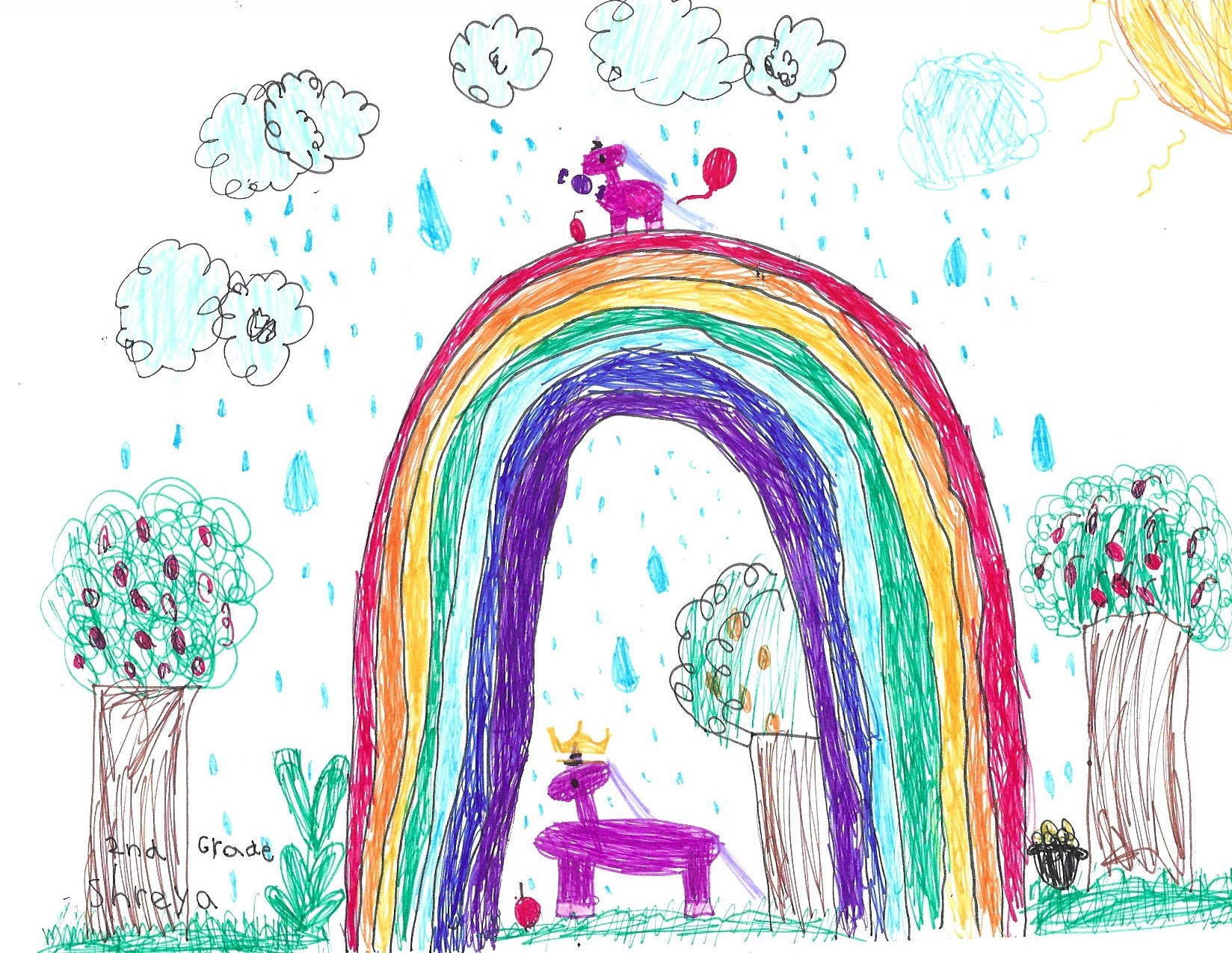 Rainbows and Unicorns Bring Joy! by Shreya Anvi Dongara