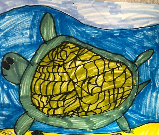 Turtle in the Ocean by Brooklyn Fackrell
