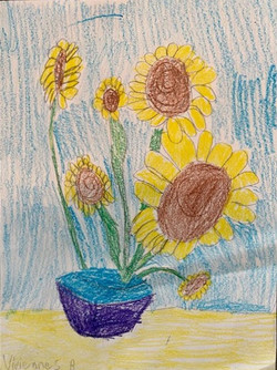 Van Gogh's Sunflowers by Vivienne Bumpus