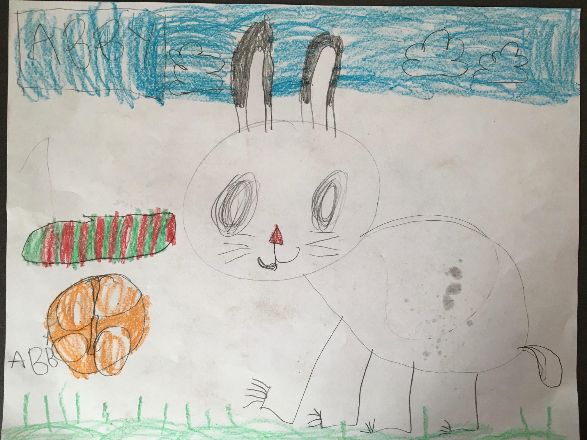 Bugs Bunny in his Play Spot by Abigail Cameron