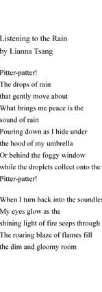 Listening to the Rain by Lianna Tsang