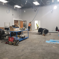 Construction as we constantly work to better our space!