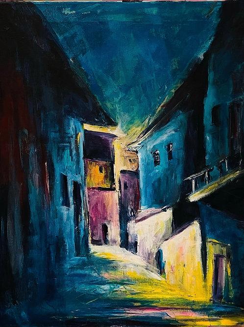 Venetian alley at Night