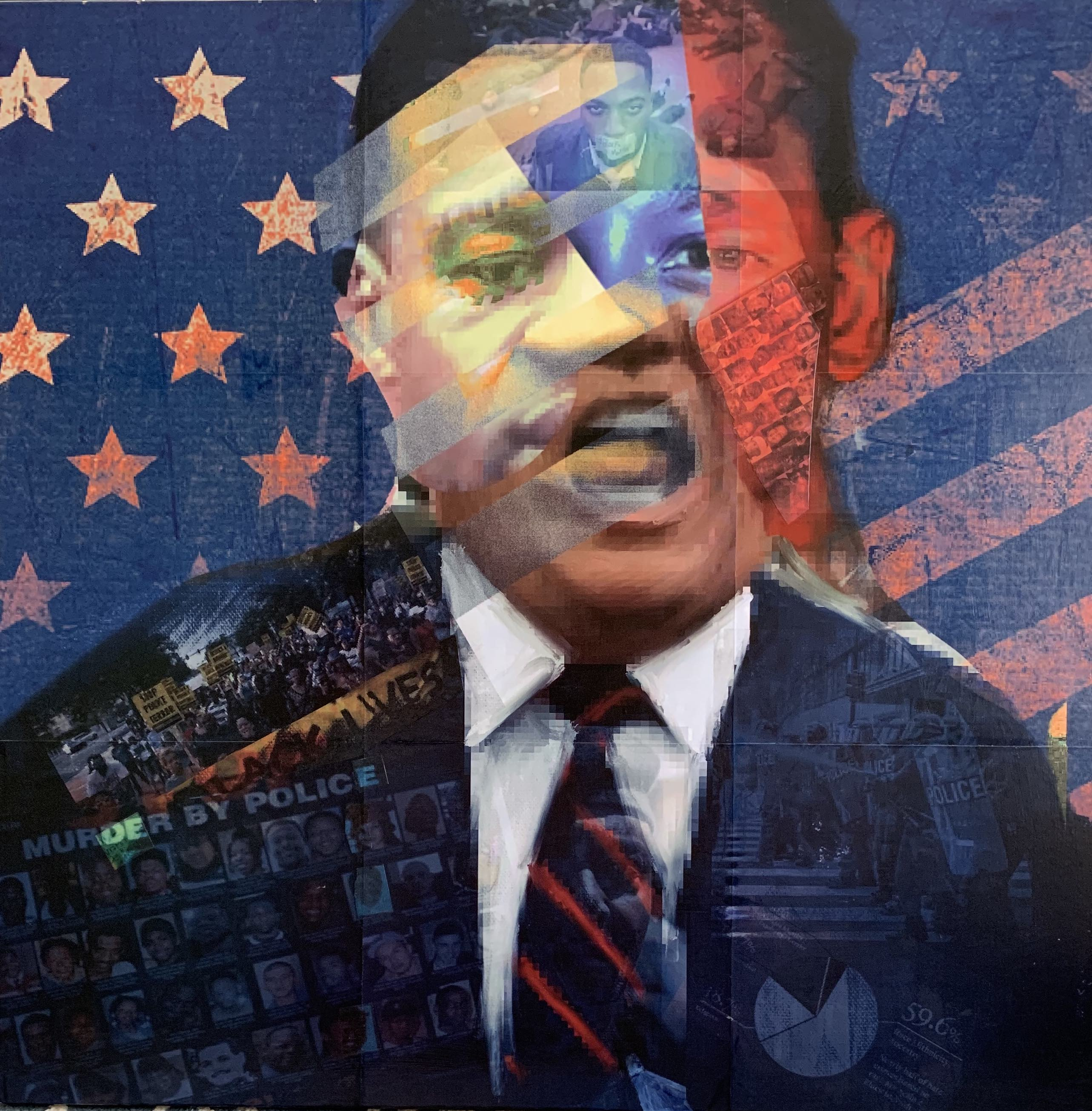Portrait of USA 2020; 36 X 36