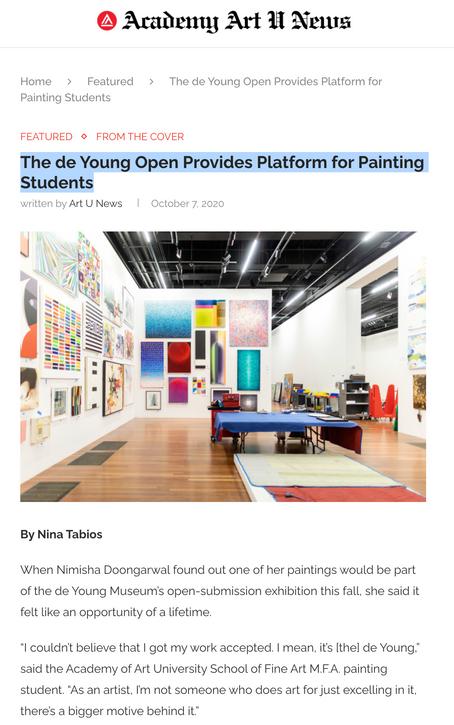 ArtU News: de Young Museum Exhibit