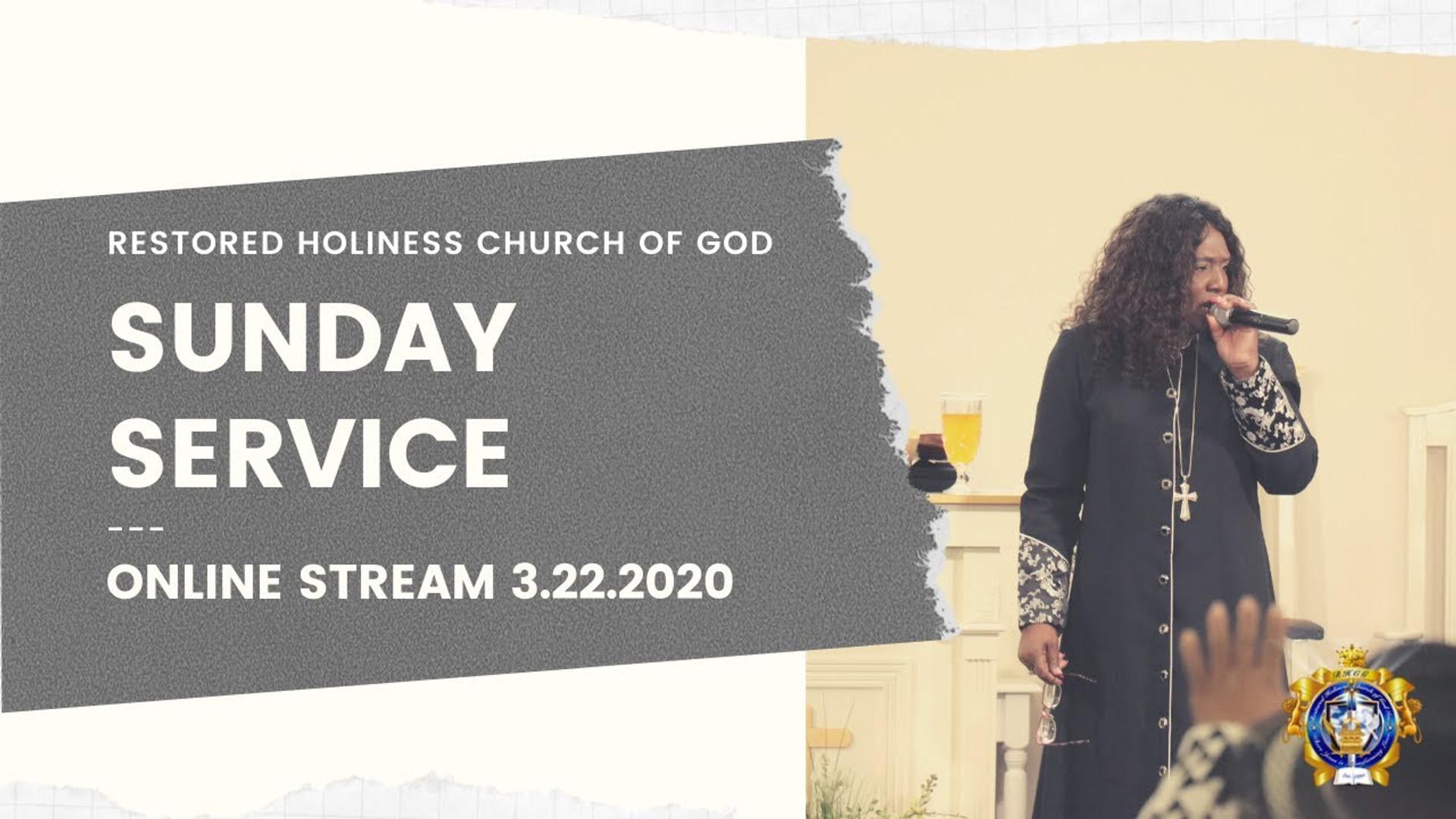 Sunday Service 3.22.2020