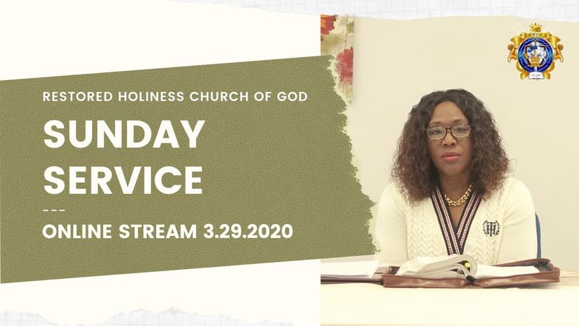 Sunday Service 3.29.2020