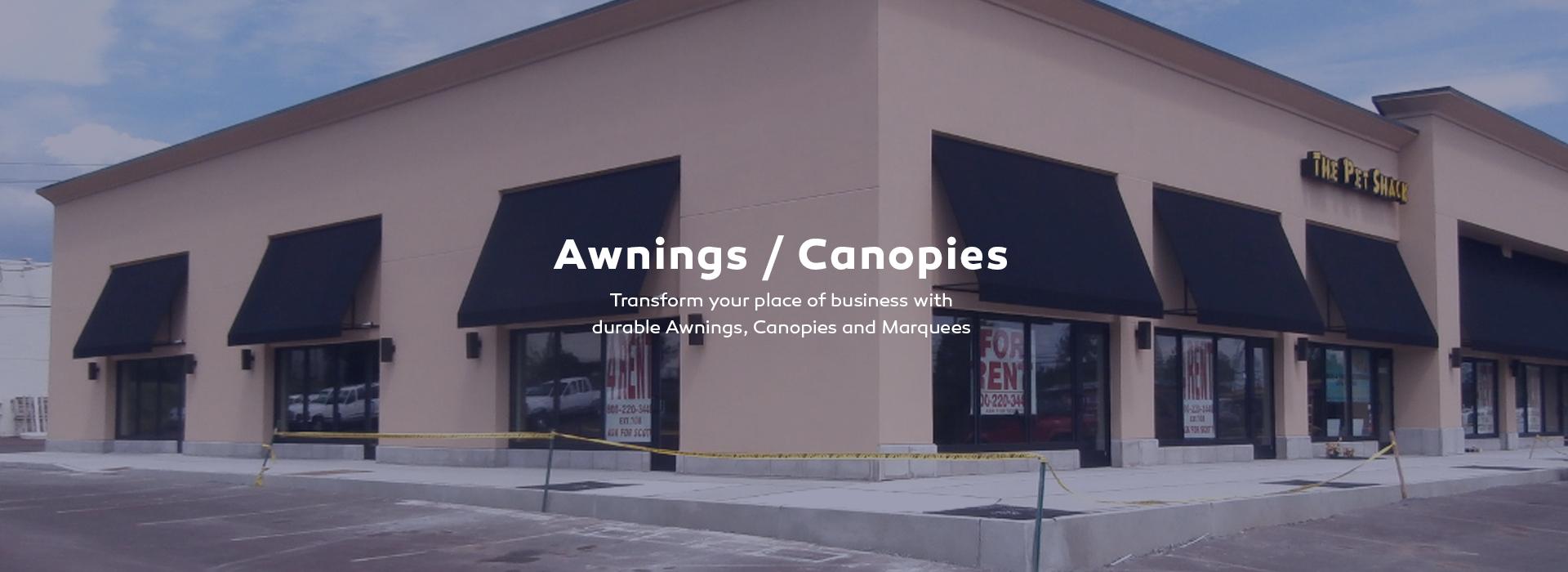 Awnings, Canopies, Shade.