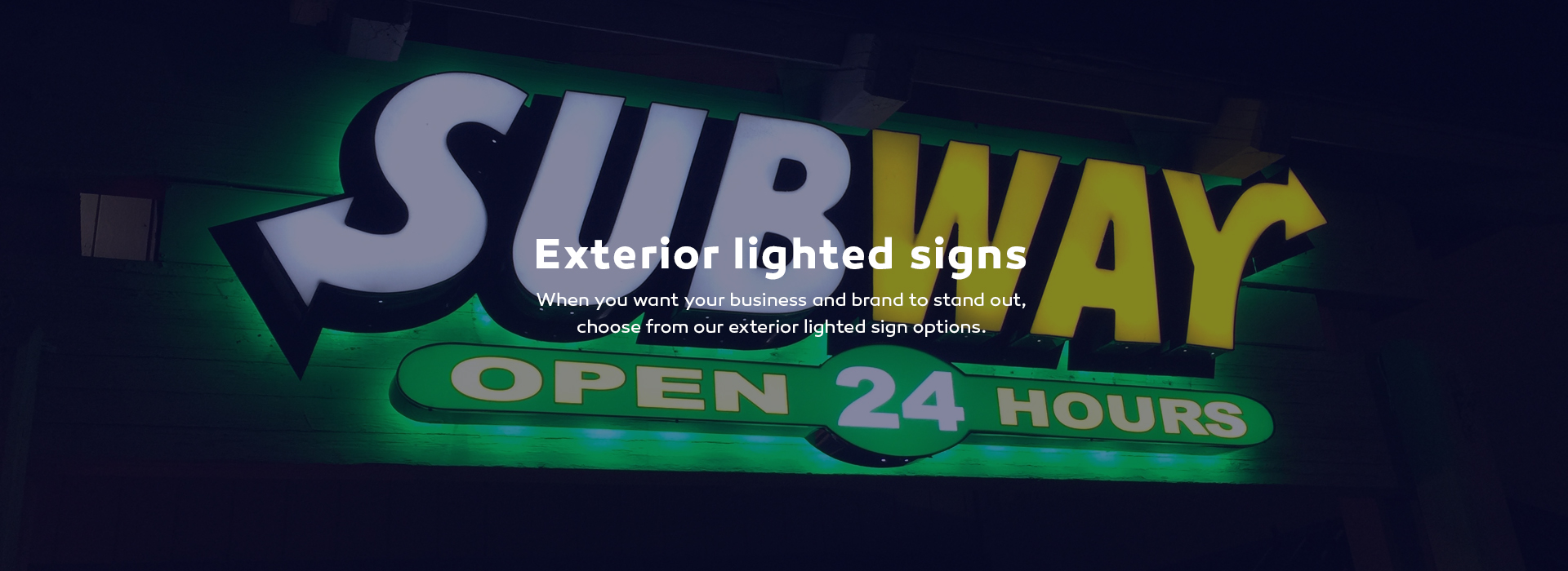 Lighted electrical signs