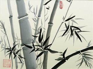 Asiatische Bambusmalerei mit Tusche2 .jp