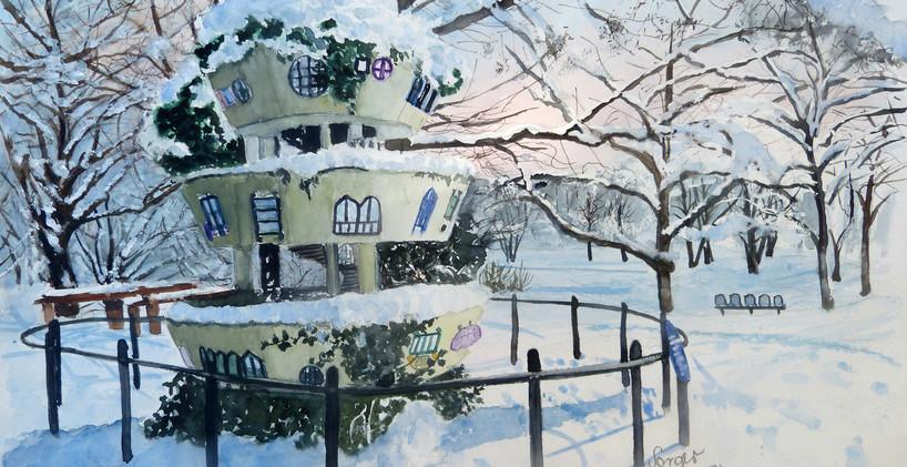 Winter im Westpark Hunderwasserhaus  - A