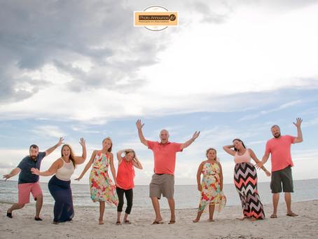 Family Photos on Treasure Island in Florida