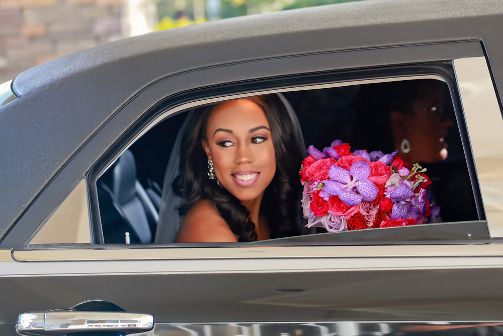 Bride arriving to the Regent for Wedding Tampa