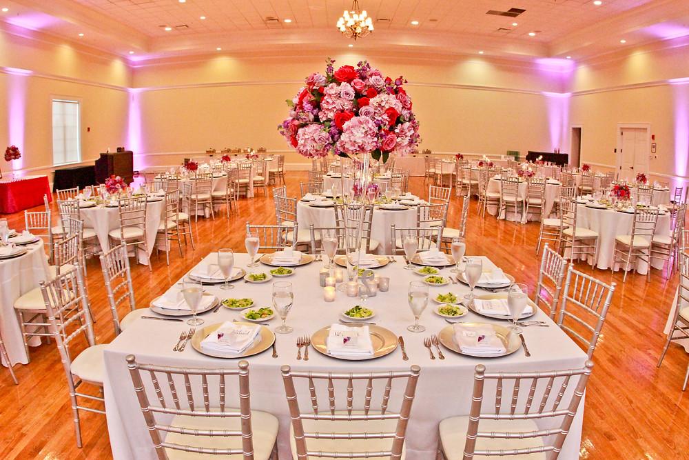 Beautiful Ballroom Decor at the Regent Brandon