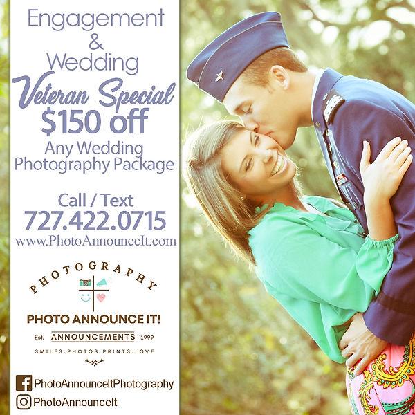Veteran Wedding Photography Special