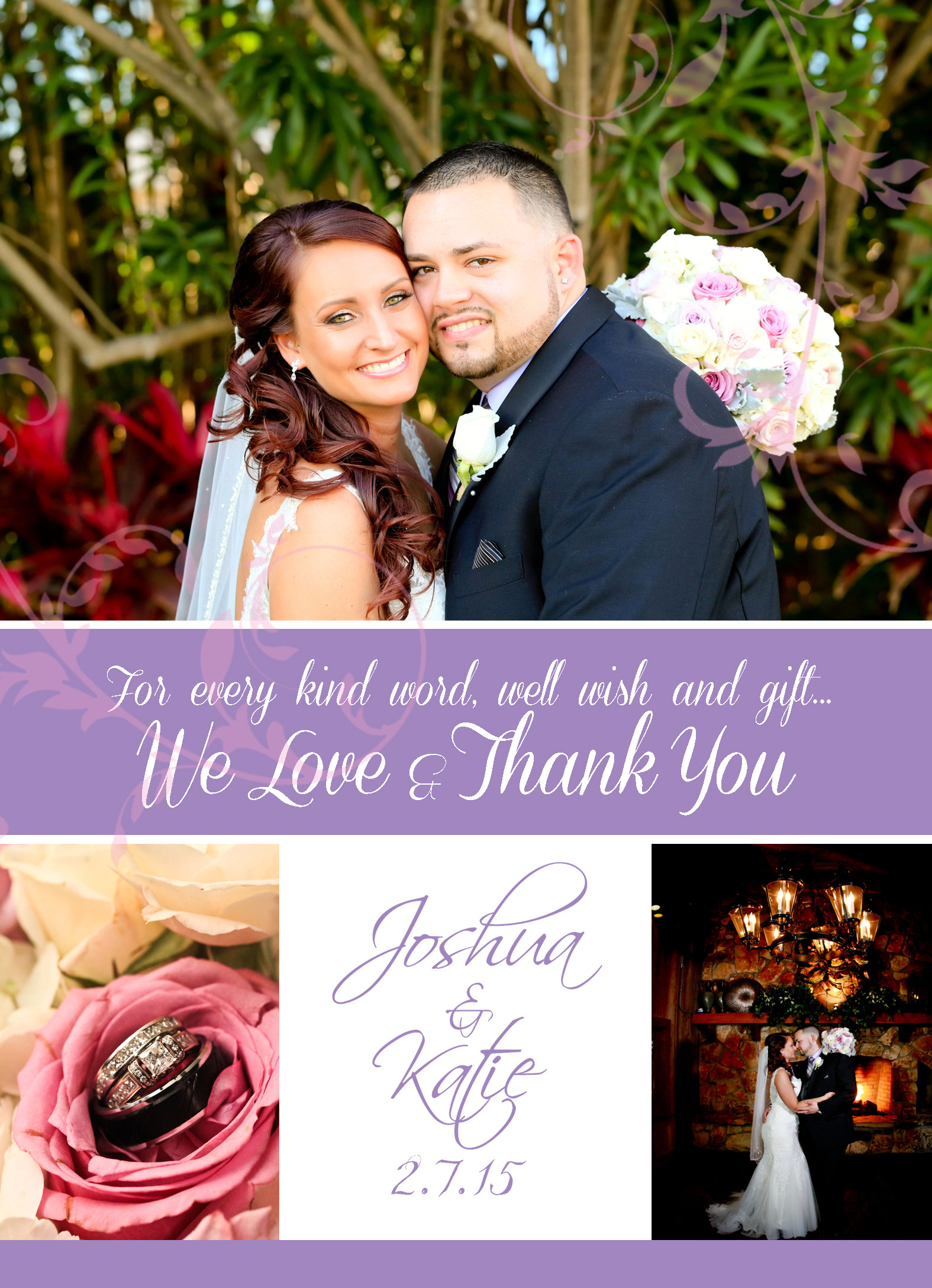 wedding thank thank you cards