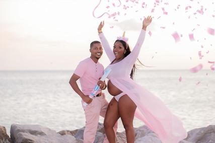 St Pete Beach Gender Reveal Photos