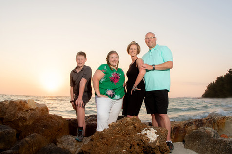 beach sunset family photos treasure island fl