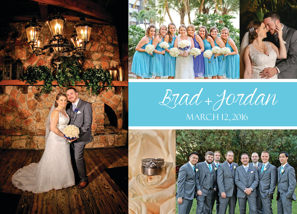 Wedding photo thank you cards tampa