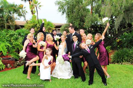 Bridal party photos tampa