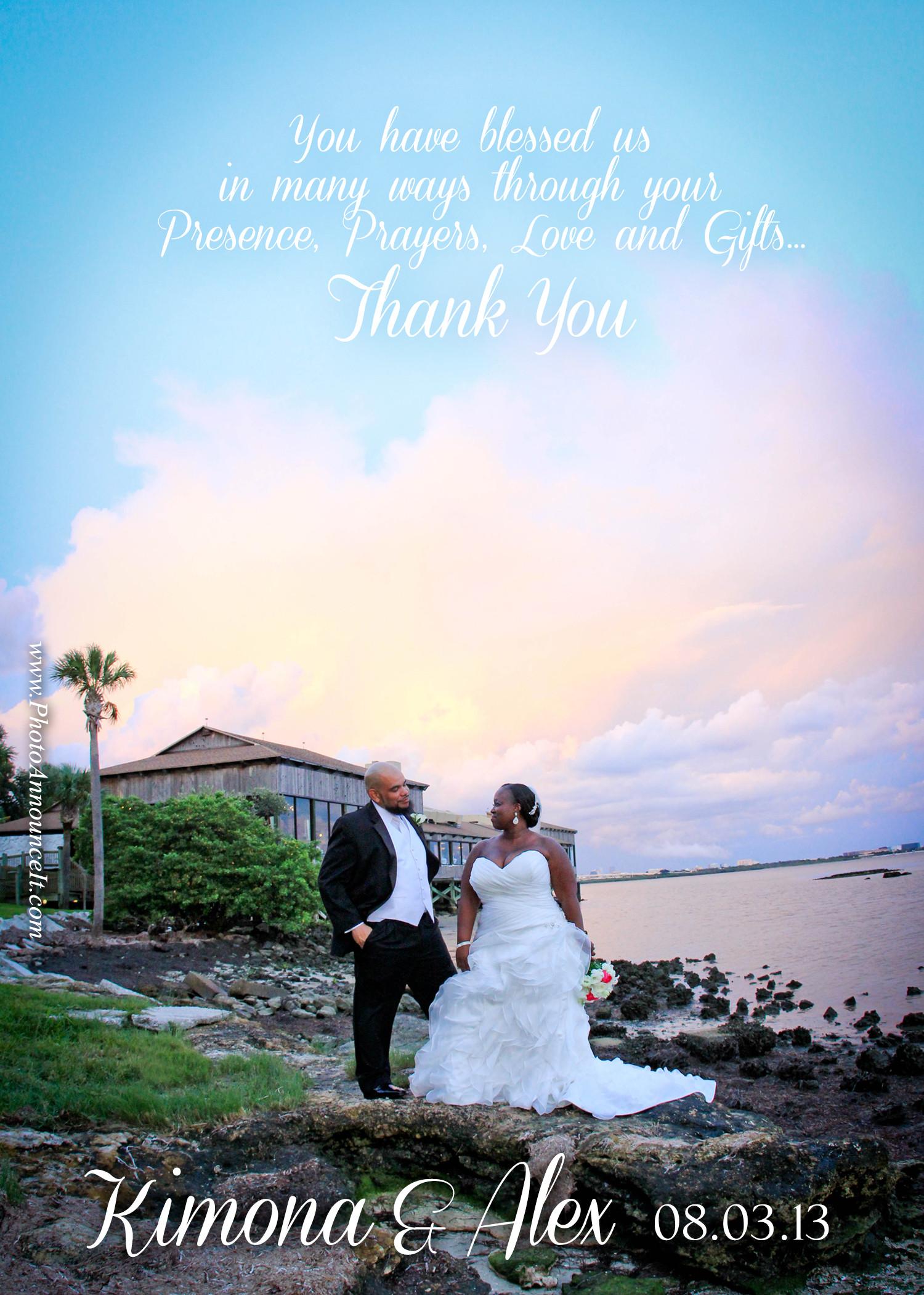 wedding thank you card ideas