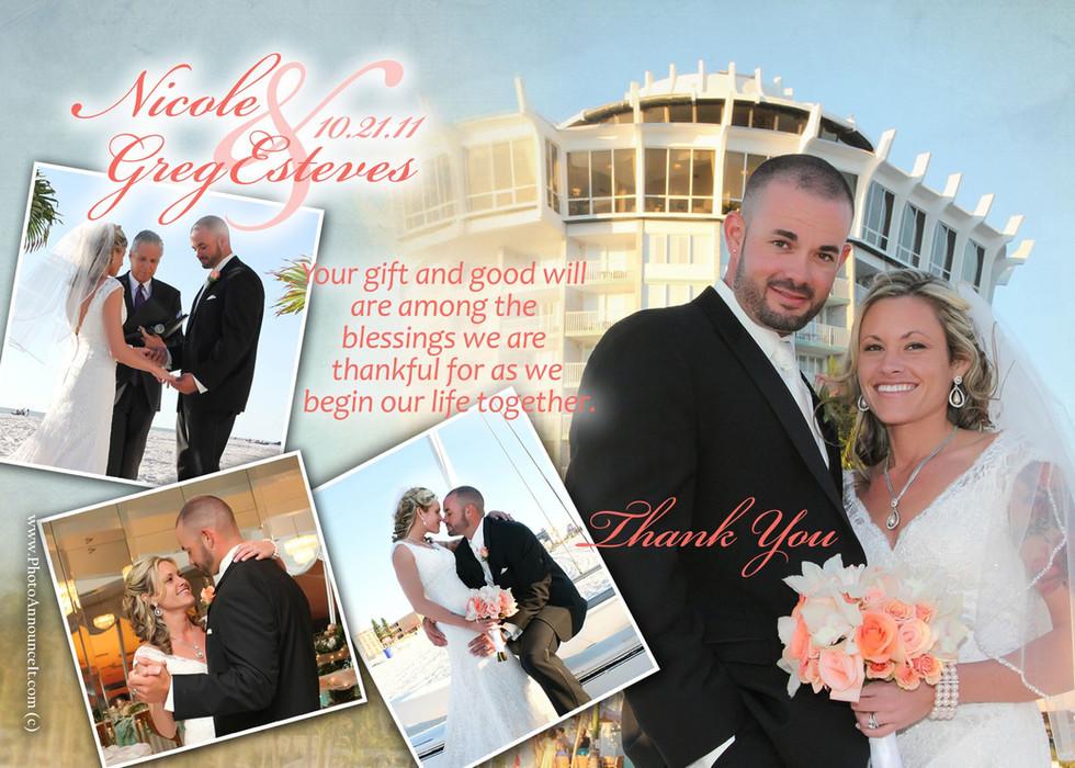 wedding thank cards