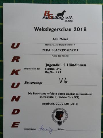 ADRK Weltsiegerschau, Augsburg, Germany, 2018