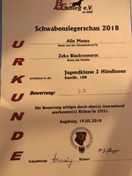 ADRK Schwabensiegerschau, Augsburg, Germany, 2018