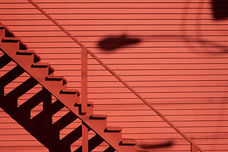 Red Wall & Stairs