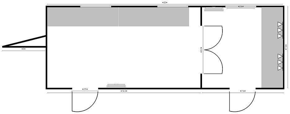 Floor Plan - School Room Trailer - BBF