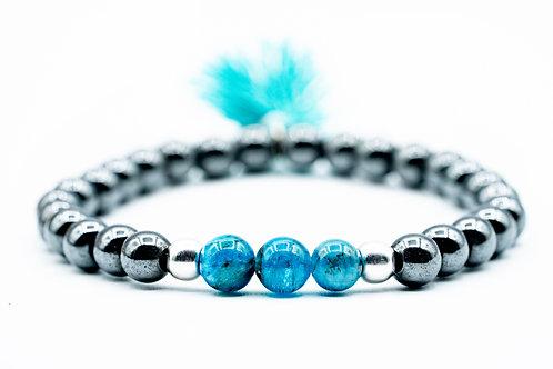 Bracelet Poupidou Apatite Hematite