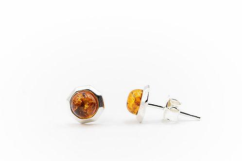 Boucles d'oreilles d'Ambre sur Argent