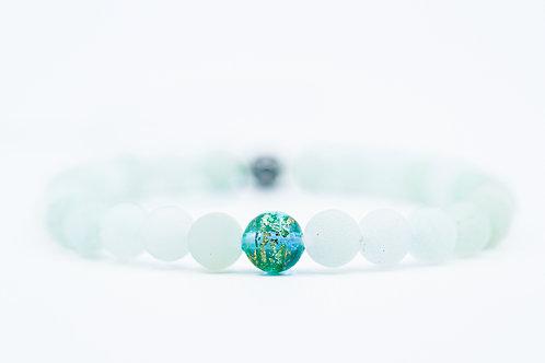 Bracelet Murano Jade turquoise