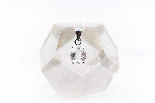 Pendentif Cristal de Roche Extra pur sur argent 925