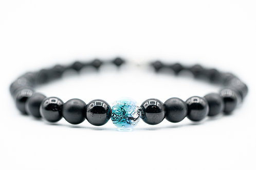 Bracelet Murano Obsidienne Onyx
