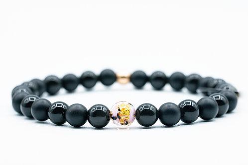 Bracelet Murano Tourmaline et Onyx